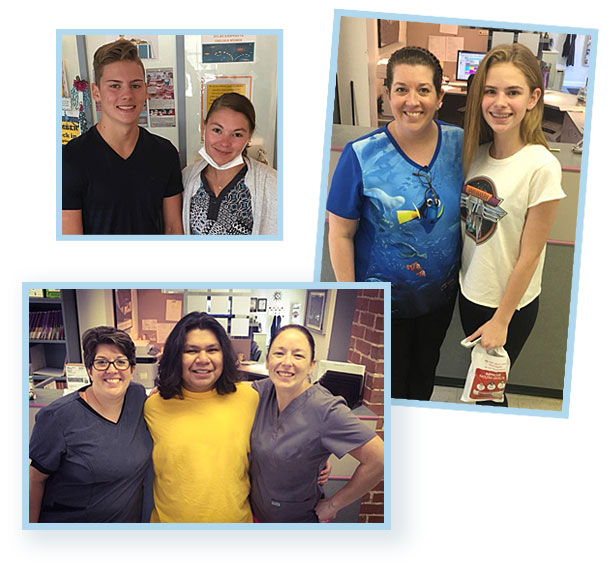 Snapshots of patients with our staff.